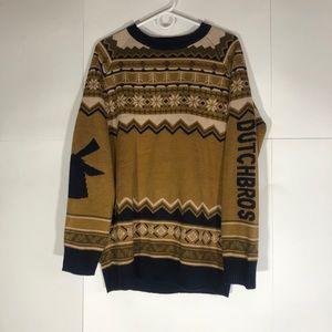 Rare Dutch Bros Christmas Sweater Men's Medium